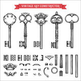 Vintage key constructor Stock Image
