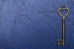 Vintage key heart shape Stock Photography