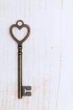 Vintage key heart shape Stock Photo