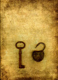 Vintage key and lock Royalty Free Stock Photography