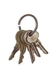 Vintage Key Ring Royalty Free Stock Photography