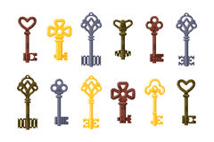 Vintage key vector isolated icon. Stock Photography