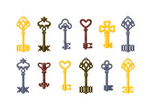 Vintage key vector isolated icon Stock Photography