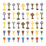 Vintage key vector  set Stock Photography