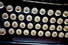 Vintage Keyboard. An old manual typewriter keyboard stock image
