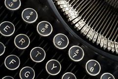 Vintage Typewriter Machine Keyboard Close Up Royalty Free Stock Photography