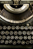 Vintage Keyboard Typewriter Machine Close Up royalty free stock photo