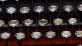 Vintage keyboard on typewriter. Czech keyboard. Cinematic look 4K. Vintage keyboard on typewriter. Czech keyboard. Cinematic look, 4K stock footage