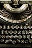 Vintage Keyboard Typewriter Machine Close Up Royalty Free Stock Photo