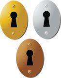 Vintage keyhole. Illustration color Stock Images