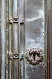 Vintage Keyhole. With flower motif on an ancient bronze door Stock Image