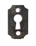 Vintage keyhole plate Stock Photo