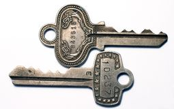 Vintage Keys. Closeup of vintage keys Royalty Free Stock Photography