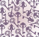Vintage Keys background stock illustration