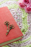 Vintage keys and book Royalty Free Stock Image