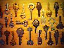Vintage keys pattern Royalty Free Stock Images