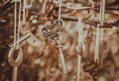 Vintage keys in the Tiffany style Royalty Free Stock Photos