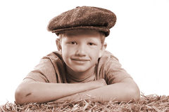 Vintage kid portait Royalty Free Stock Photography