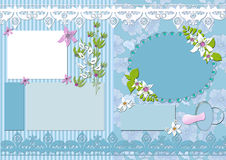 Vintage kids scrapbook elements card Stock Photo