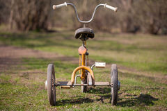 Vintage kids tricycle. Stock Photography
