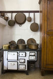 Vintage kitchen. Photo of a vintage old style equiped  kitchen Stock Images