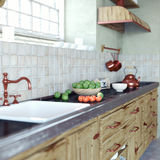 Vintage kitchen interior Stock Images