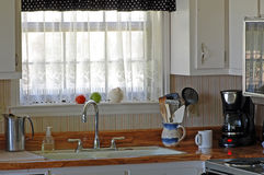 Vintage Kitchen and old porcelain sink Royalty Free Stock Photography
