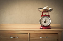 Vintage kitchen scales Stock Photography