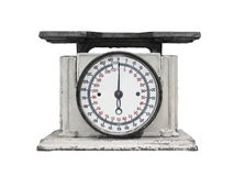 Vintage kitchen scales isolated Royalty Free Stock Photo