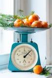 Vintage kitchen scales Stock Photos