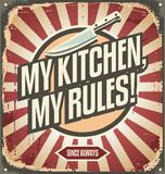 Vintage kitchen sign Stock Photo