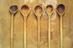 Vintage kitchen spoons Royalty Free Stock Photos