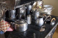 Vintage Kitchen Stove Alaska Highway Royalty Free Stock Photos
