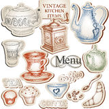 Vintage kitchen tools Royalty Free Stock Images