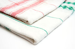 Vintage kitchen towels Royalty Free Stock Images