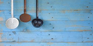 Vintage kitchen utensils Royalty Free Stock Photography