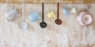 Vintage kitchen utensils, Stock Images
