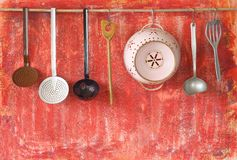 Vintage kitchen utensils Stock Photos