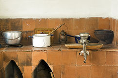Vintage Kitchen with Utensils Stock Image