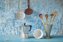Vintage kitchen utensils Royalty Free Stock Photos