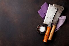 Vintage kitchen utensils and spices Stock Photography