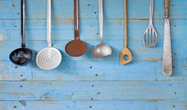 Vintage kitchen utensils, Royalty Free Stock Photography