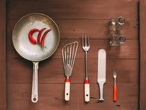 Vintage kitchen utensils. Royalty Free Stock Photo