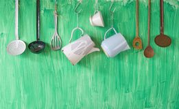Vintage kitchen utenslis Royalty Free Stock Photo