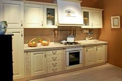 Vintage kitchen wide Stock Images