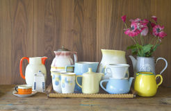 Vintage kitchenware. Good copy space stock photo