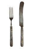 Vintage knife and fork. Vintage cutlery to eat. knife and fork Stock Image