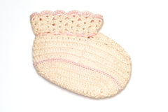 Vintage knit baby booty Royalty Free Stock Photo