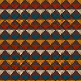 Vintage Knitted Seamless Pattern in Fair Isle style. Hipster Swe Stock Images