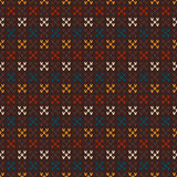 Vintage Knitted Seamless Pattern in Fair Isle style. Hipster Swe Stock Photography